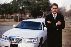 Driver and Limousine
