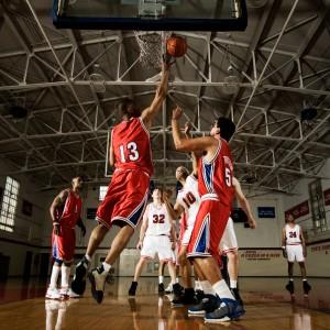 Player Attempting to Get Rebound
