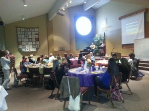 It was a special day. The MOPS group at Zionsville Presbyterian Church did a fabulous job pampering the women.